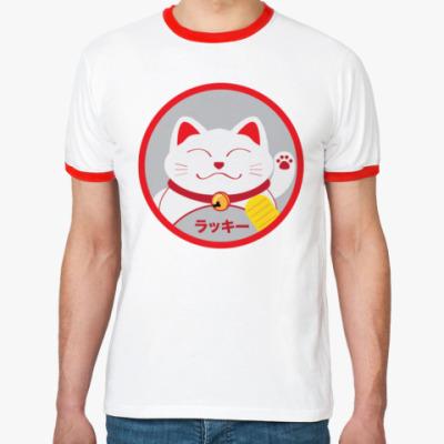 Футболка Ringer-T Lucky Cat