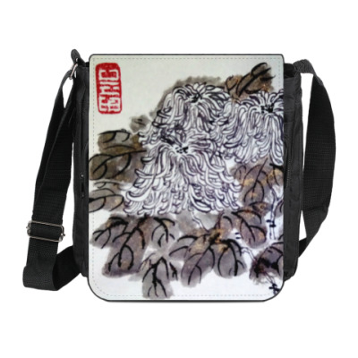 Сумка на плечо (мини-планшет) Хризантемы