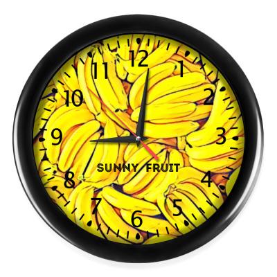 Настенные часы   Sunny fruit
