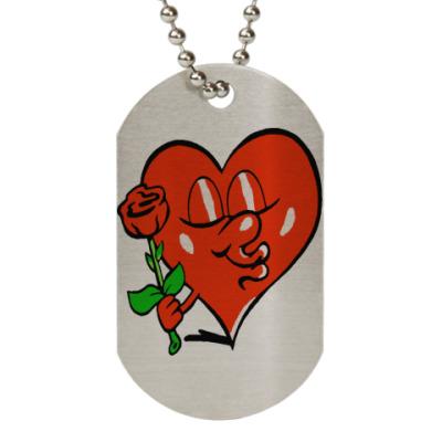 Жетон dog-tag влюбленное сердце