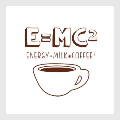 Постер E=MC2