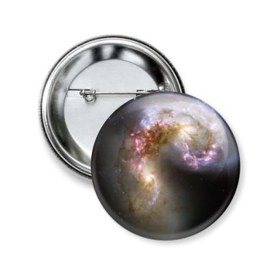 Значок 50мм  'Галактика'