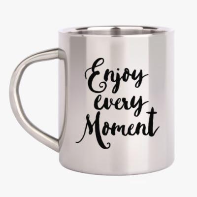 Кружка металлическая Enjoy every moment