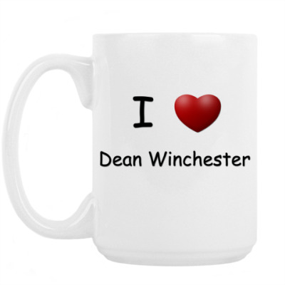 Кружка I Love Dean Winchester