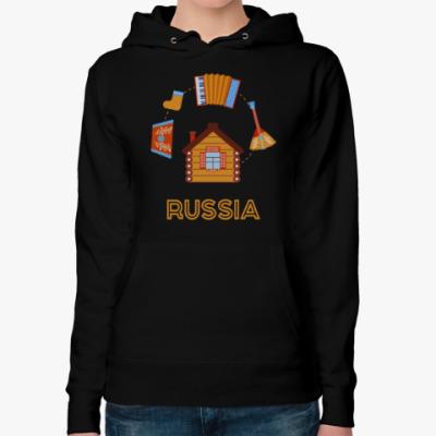 Женская толстовка худи Russia, Россия