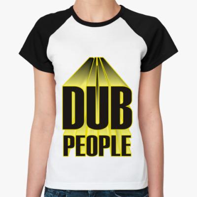 Женская футболка реглан dubstep