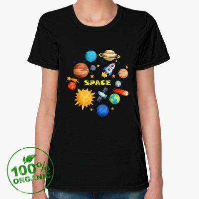 Женская футболка из органик-хлопка Space (Космос)