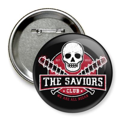 Значок 75мм Walking Dead The Saviors TWD