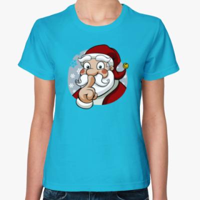 Женская футболка Funny Santa