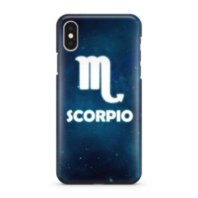 Чехол для iPhone X Знак зодиака. Скорпион