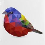 Птичка из полигонов