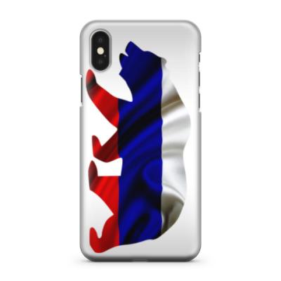 Чехол для iPhone X Русский медведь