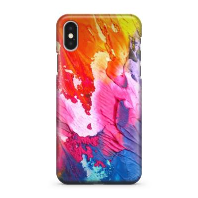 Чехол для iPhone X Яркие краски