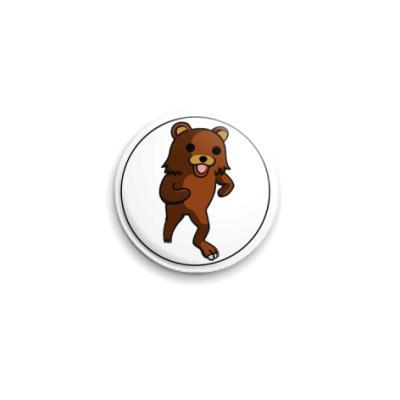 Значок 25мм  Pedobear