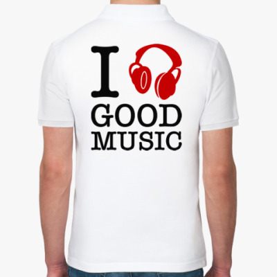 Рубашка поло I love good music