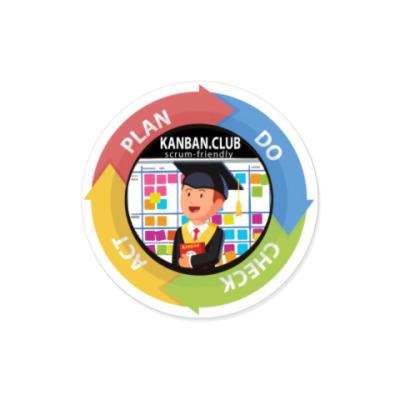 Виниловые наклейки PDCA - Канбан клуб