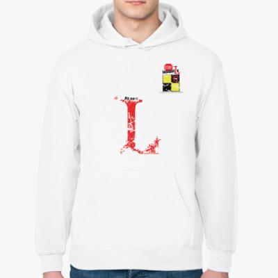 Толстовка худи Сигнальный флаг «L» (Lima / Лима)