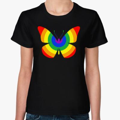 Женская футболка Rainbow Buttefly