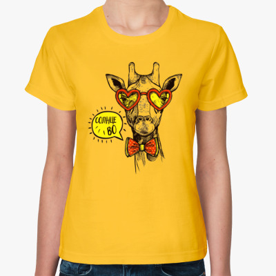 Женская футболка Солнцево!
