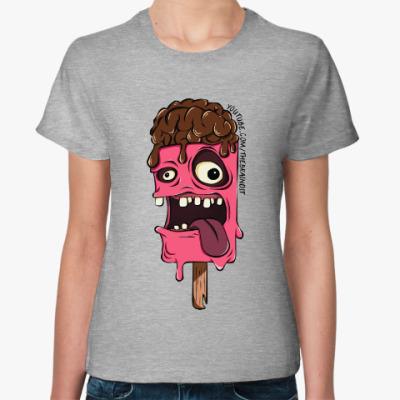 "Женская футболка Женская футболка ""IceBrain"""