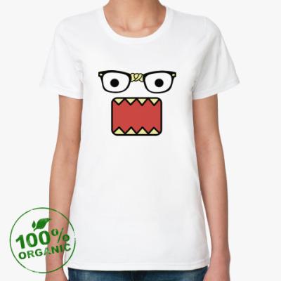 Женская футболка из органик-хлопка Nerd Domo