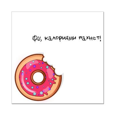 Наклейка (стикер) Пончик
