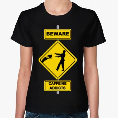 Женская футболка Coffee Zombie