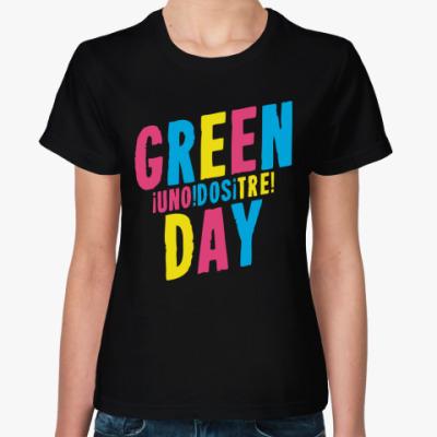 Женская футболка Green Day Uno Dos Tre