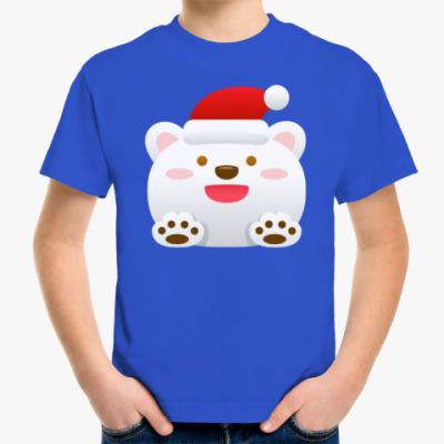 Детская футболка Новогодний Мишка