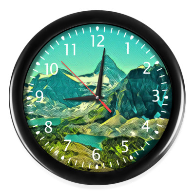 Настенные часы Горы