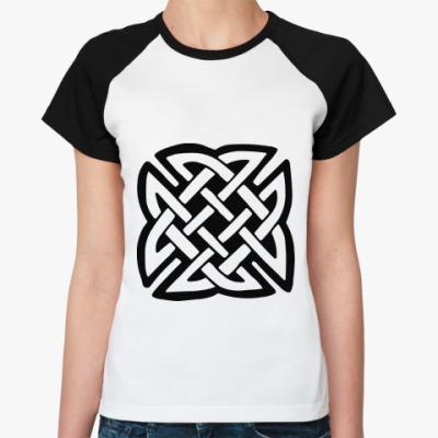 Женская футболка реглан Кельтский узор