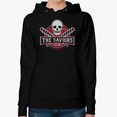 Женская толстовка худи Walking Dead The Saviors TWD