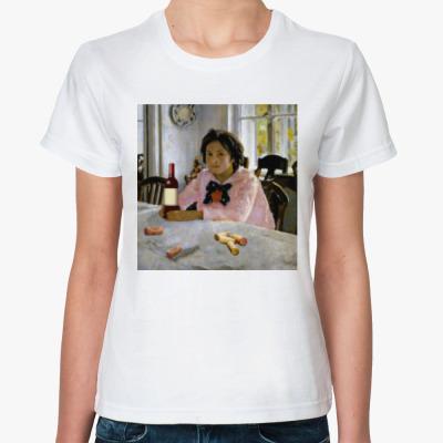 Классическая футболка Девочка с пробками