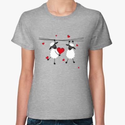 Женская футболка Влюбленные овечки