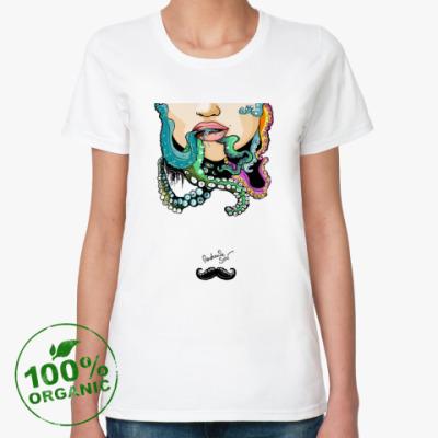 Женская футболка из органик-хлопка Осьминог