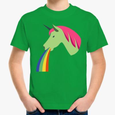 Детская футболка Vomiting Unicorn