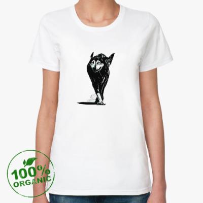 Женская футболка из органик-хлопка Женское сердце