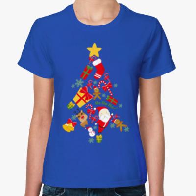 Женская футболка Новогодняя Елочка
