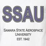 Двуцветная футболка СГАУ (м)