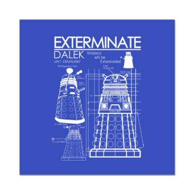 Наклейка (стикер) Dalek plan