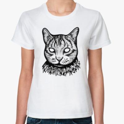 Классическая футболка Creepy Cat