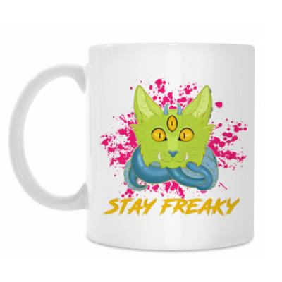 Кружка Freaky Cat