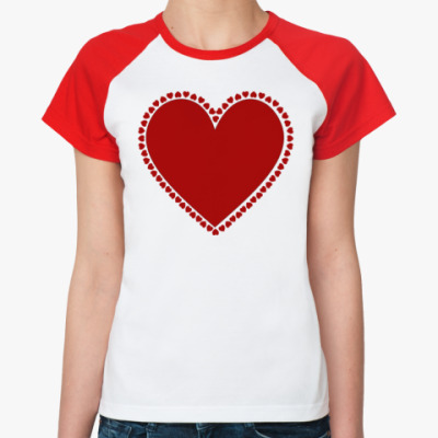 Женская футболка реглан Hearts