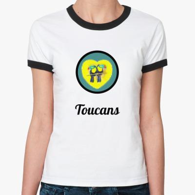 Женская футболка Ringer-T  Туканы