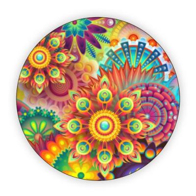 Костер (подставка под кружку) Абстрактная иллюстрация