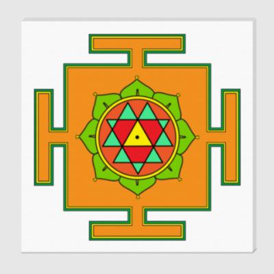 Холст Дурга-янтра для медитаций
