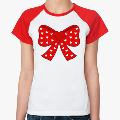 Женская футболка реглан Heart Bow