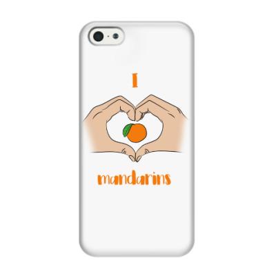 Чехол для iPhone 5/5s Я люблю мандарины