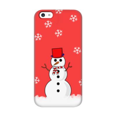 Чехол для iPhone 5c Снеговик