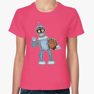 """Женская футболка Женская футболка """"Bender"""""""